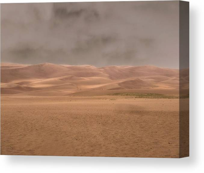 Desert Storm Canvas Print featuring the photograph Great Sand Dunes Approaching Storm by Dan Sproul