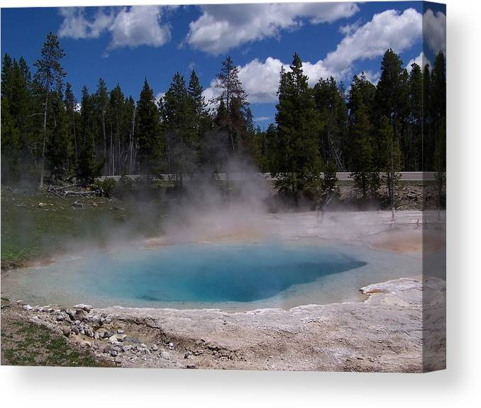 Yellowstone Canvas Print featuring the photograph Emerald Crater Pool by Patricia Swift
