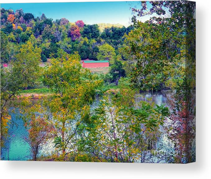 Autumn Scenery Canvas Print featuring the photograph Fall In West Virginia by Gena Weiser