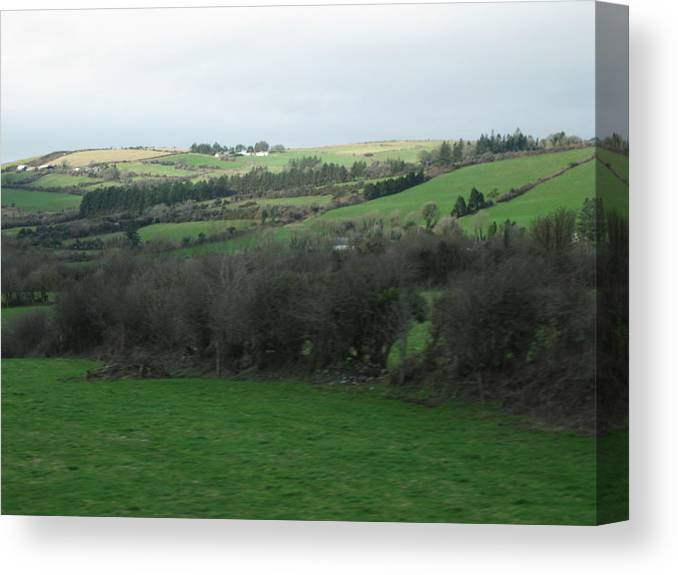 Ireland Canvas Print featuring the photograph Fields Of Ireland by Margaret Hodgson