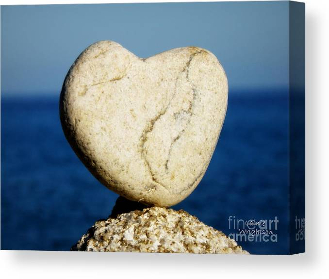 Heart Canvas Print featuring the photograph Found Heart by Lainie Wrightson