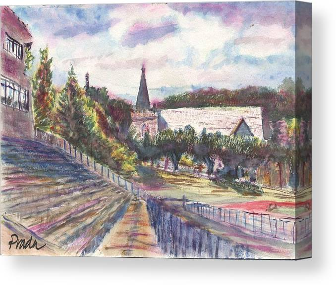 Watercolor Canvas Print featuring the painting Francis Field by Horacio Prada
