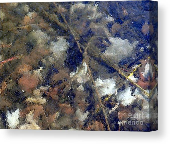 Leaves Canvas Print featuring the photograph Frozen In Time by Ed Weidman