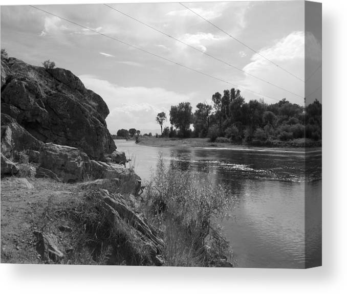 River Canvas Print featuring the photograph Gentle River by Jesse Thrush