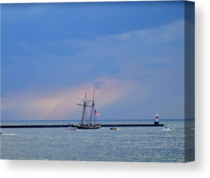 Large Canvas Print featuring the photograph Heading Home by Susan Wyman