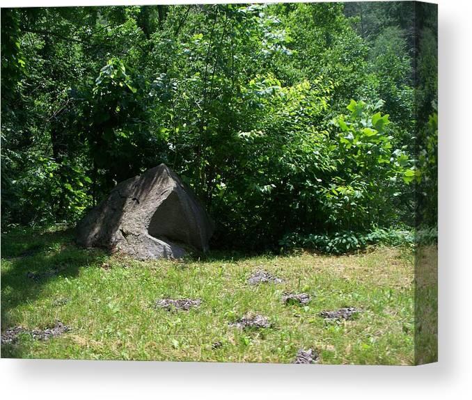 Landscape Canvas Print featuring the photograph Hidden Rock by Rosanne Bartlett