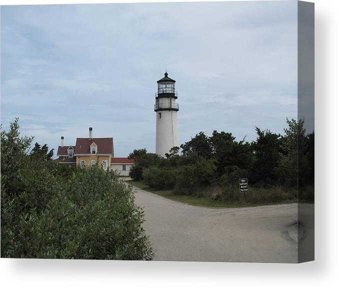 Lighthouse Canvas Print featuring the photograph Highland Light Aka Cape Cod Light by Barbara McDevitt