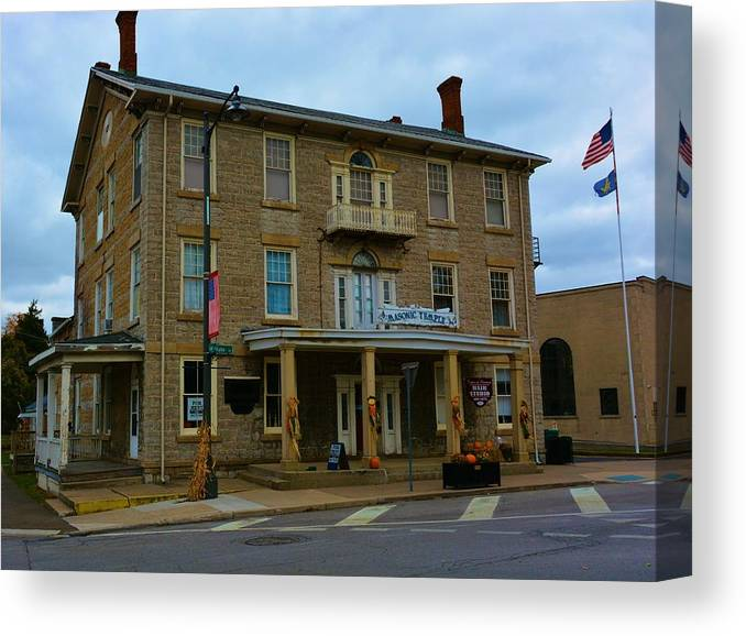 Architecture Canvas Print featuring the photograph Historic Masonic Temple by Richard Jenkins