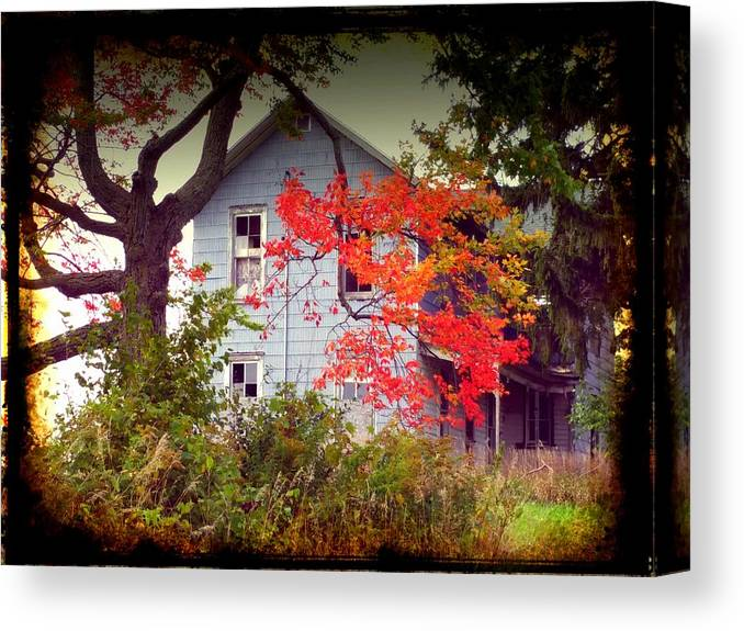 House Canvas Print featuring the photograph House On Hill 2 by Michael L Kimble