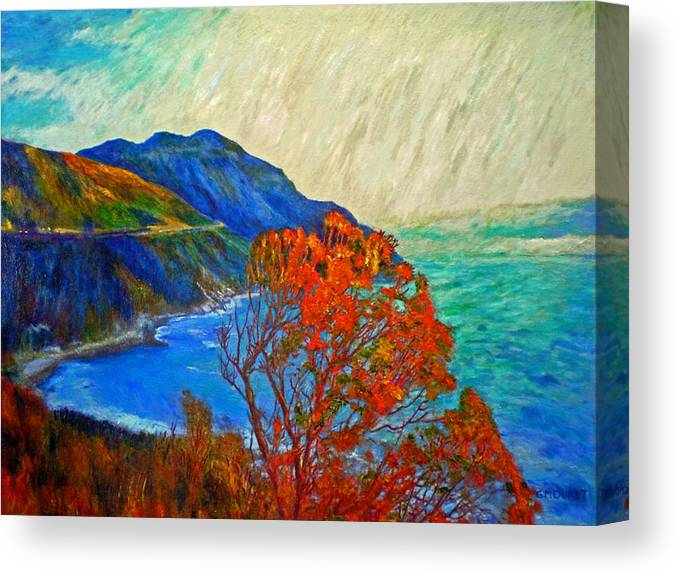 Seascape Canvas Print featuring the painting Hout Bay by Michael Durst