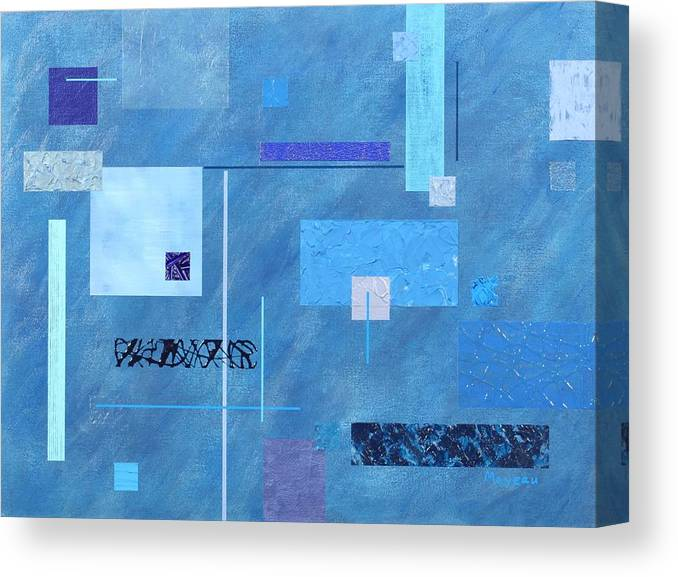 Abstract Canvas Print featuring the painting iBlue by David Mayeau
