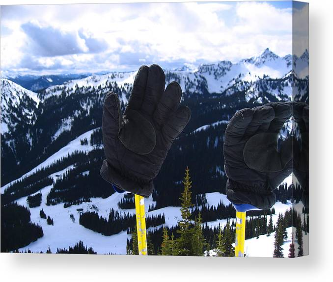 Kym Backland Canvas Print featuring the photograph If The Glove Fits by Kym Backland