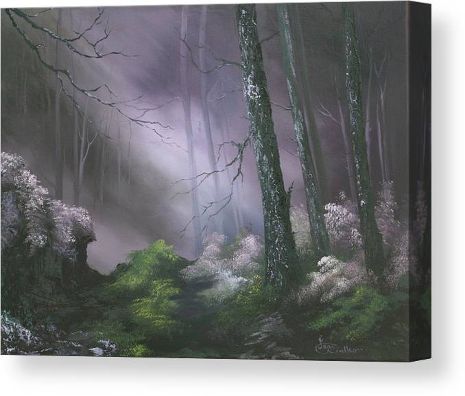 Forests Canvas Print featuring the painting If You Go Down In The Woods Today ? by Jean Walker