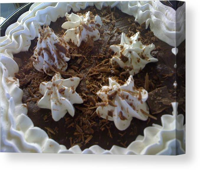 Chocolate Canvas Print featuring the photograph Just Dessert by Shannon Grissom