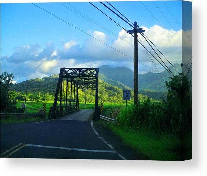 Bridge Canvas Print featuring the photograph Kauai Bridge by Catherine Rogers