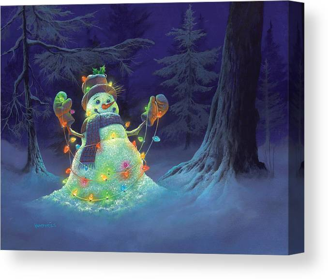 Michael Humphries Canvas Print featuring the painting Let It Glow by Michael Humphries
