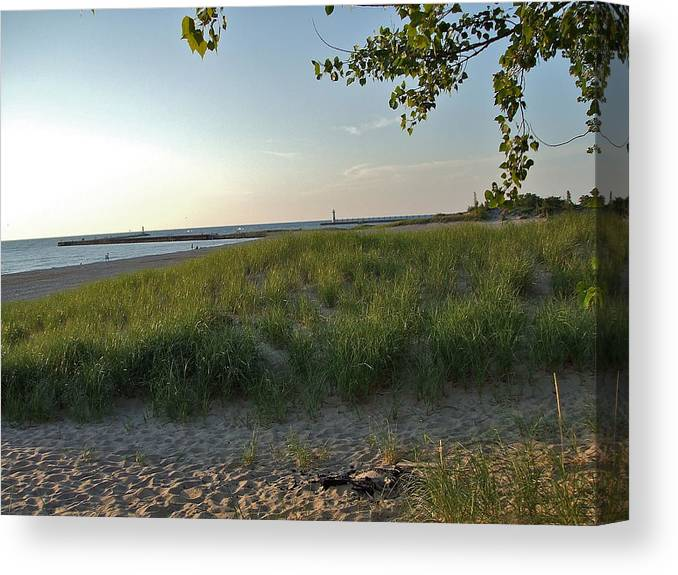 Low Sun Canvas Print featuring the photograph Low Sun On The Dunes by Susan Wyman