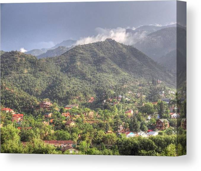 Landscape Canvas Print featuring the photograph Manitou To The South I by Lanita Williams