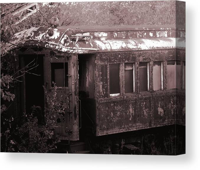 Train Canvas Print featuring the photograph Miles Gone by Mark Pearson