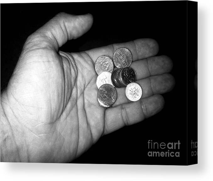 Abstract Canvas Print featuring the photograph Money Always Funny by Vladimir Berrio Lemm