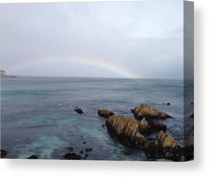 Ocean Canvas Print featuring the photograph Monterey Rainbow by Joyce Brooks Newman