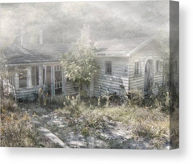 Abandoned House. Haunted House Canvas Print featuring the photograph Mr Crowley's by Mark Dottle