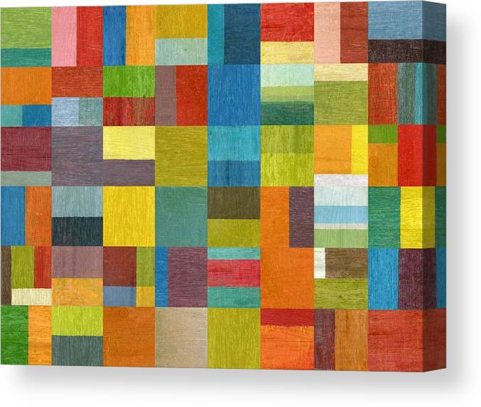 Abstract Canvas Print featuring the painting Multiple Exposures Lll by Michelle Calkins