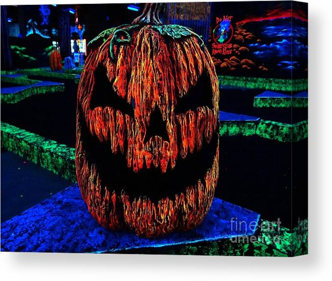 Neon Canvas Print featuring the photograph Neon Jack by Ed Weidman