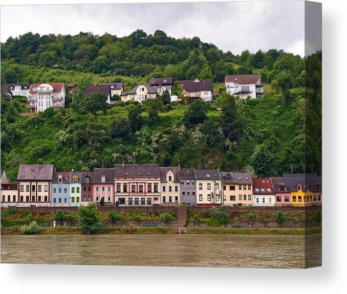 Alankomaat Canvas Print featuring the photograph Niederheimsbach Am Rhein by Jouko Lehto