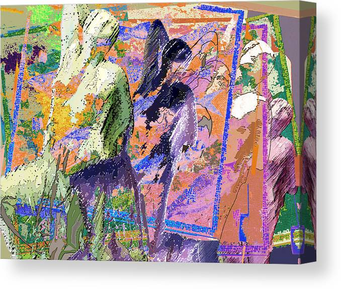 Canvas Print featuring the digital art Niobe 2 by Sally Fowler