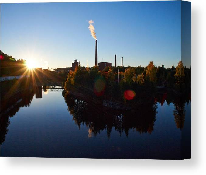 Finland Canvas Print featuring the photograph Nokia Paper Mill by Jouko Lehto
