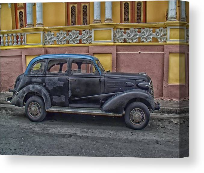 Havana Canvas Print featuring the photograph One Of Havana's Classics by Mountain Dreams