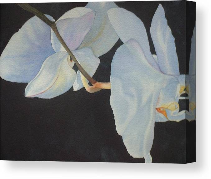 Floral Canvas Print featuring the painting Orchid Dance II by Mary Louise Ringers