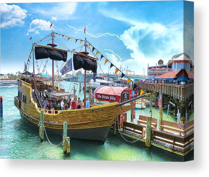 Pirate Ship Canvas Print featuring the photograph Pirate Ship by Stephen Warren
