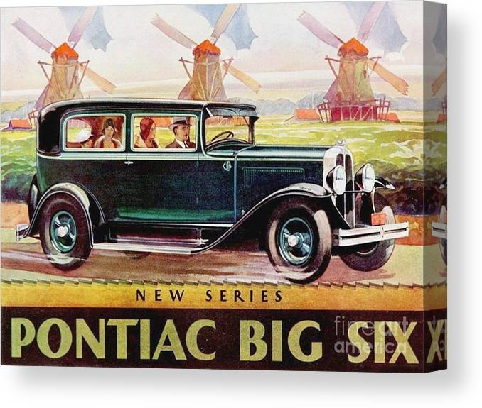 Pd-art: Poster Canvas Print featuring the painting Pontiac Big Six - Poster by Roberto Prusso