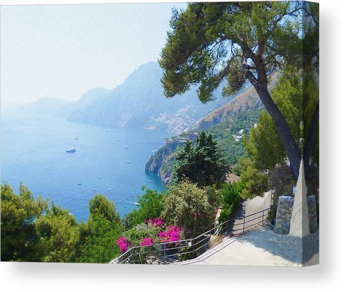 Italy Canvas Print featuring the photograph Positano Italy Amalfi Coast Delight by Irina Sztukowski