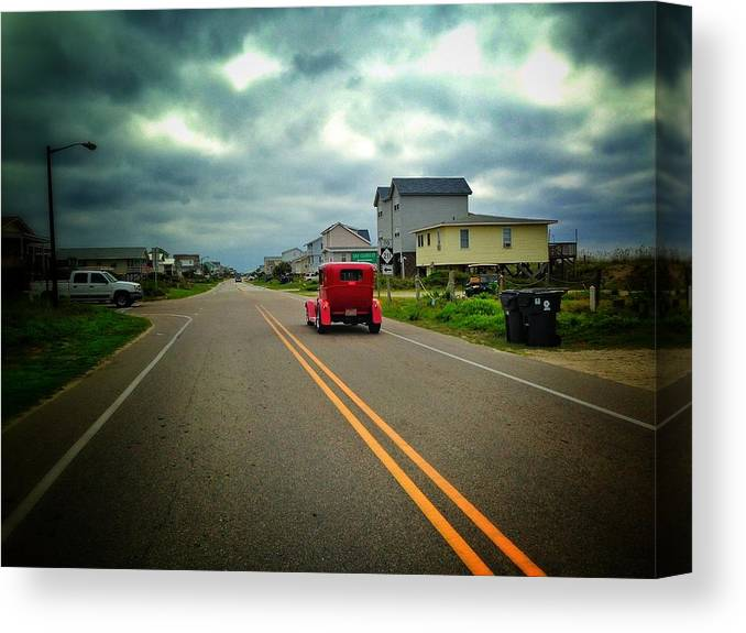 Classic Car Canvas Print featuring the photograph Red by Antonio Marquis
