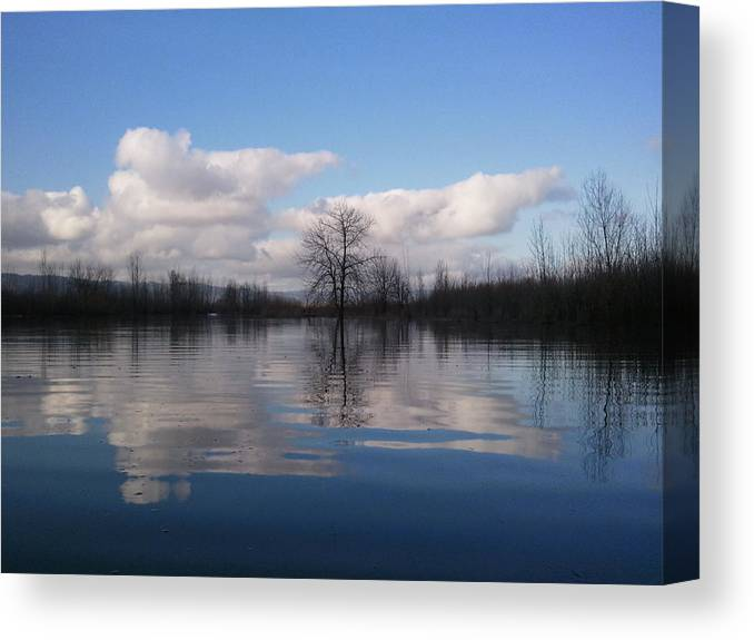 Clouds Canvas Print featuring the photograph Reflections by Heather L Wright