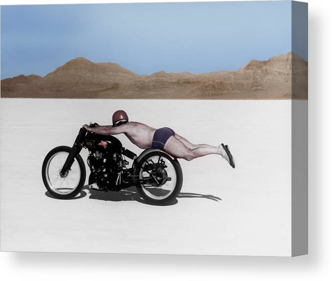 Rollie Free Canvas Print featuring the photograph Roland Rollie Free by Mark Rogan