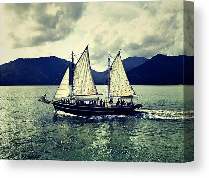 Sailing Canvas Print featuring the photograph Sailing Ship by Girish J