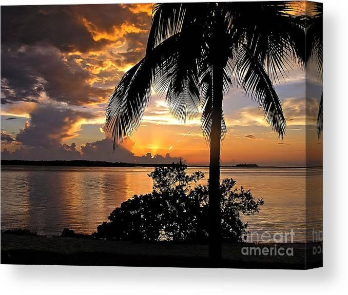 Sunset Canvas Print featuring the photograph Sanibel Sunset by Carol Bradley