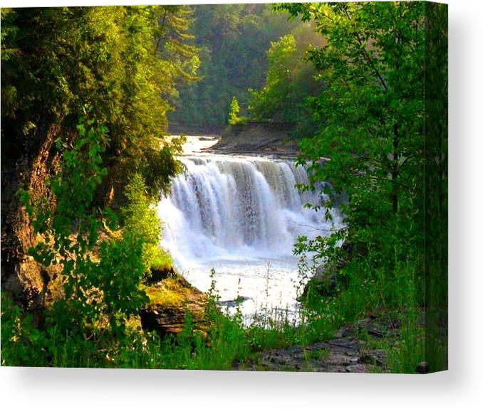 Falls Canvas Print featuring the photograph Scenic Falls by Rhonda Barrett