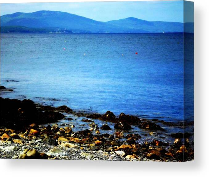 Landscape Canvas Print featuring the photograph Scenic Maine by Dancingfire Brenda Morrell
