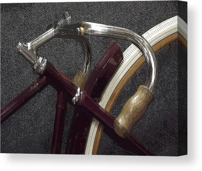 Bike Canvas Print featuring the digital art Simplicity by Joyce Wasser