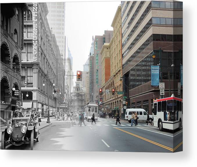 Philadelphia Canvas Print featuring the photograph Snellenburg's II by Eric Nagy