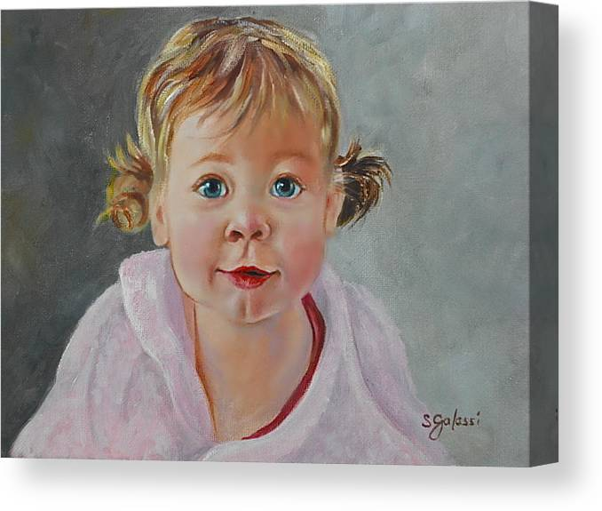 Portrait Canvas Print featuring the painting Sophie by Susan Galassi