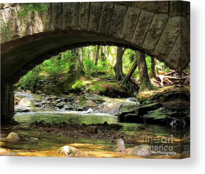 Stone Bridge Canvas Print featuring the photograph Stone Bridge II by Elizabeth Dow