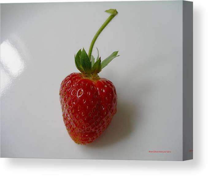 Strawberry Canvas Print featuring the photograph Strawberry 01 by Brian Gilna