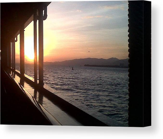 Sunset At Sea Canvas Print featuring the photograph Sunset Down The Islands by Asiya Skinner