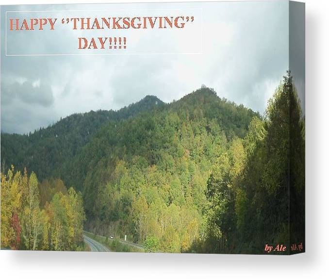 Canvas Print featuring the photograph Thanksgiving by Ale Nelson